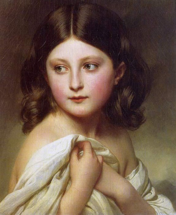 A Young Girl called Princess Charlotte. Franz Xavier Winterhalter