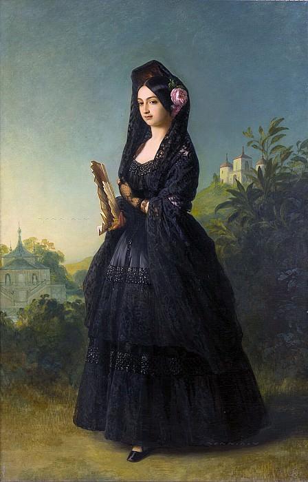 Marie-Louise-Ferdinande de Bourbon, duchesse de Montpensier. Franz Xavier Winterhalter