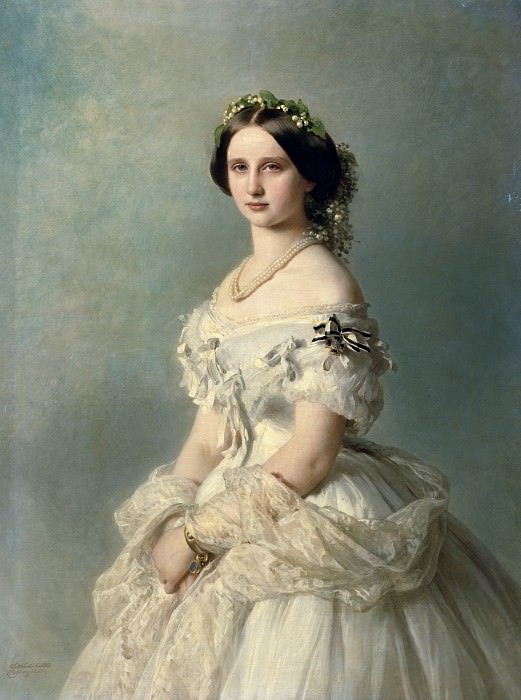 Portrait of Princess of Baden. Franz Xavier Winterhalter