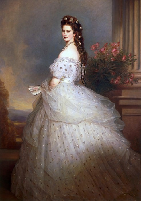 Elizabeth, Empress of Austria and Queen of Hungary. Franz Xavier Winterhalter