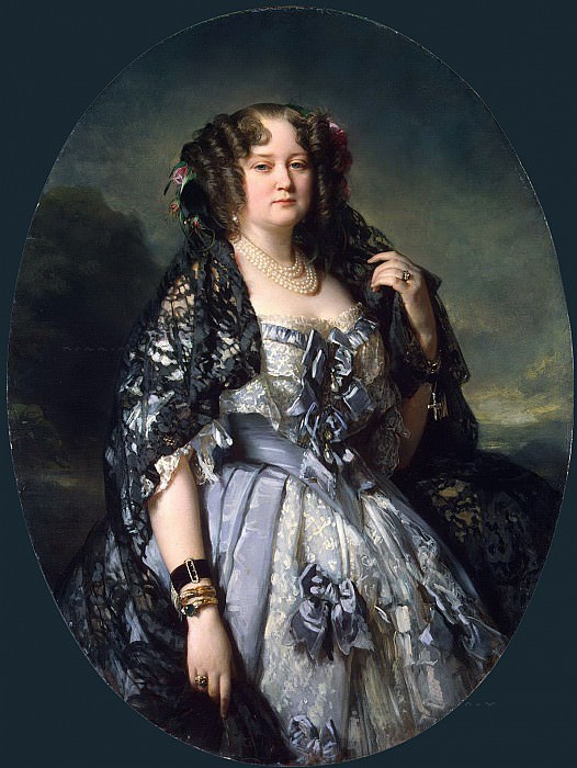 Portrait of Princess Sophia Radzivil. Franz Xavier Winterhalter