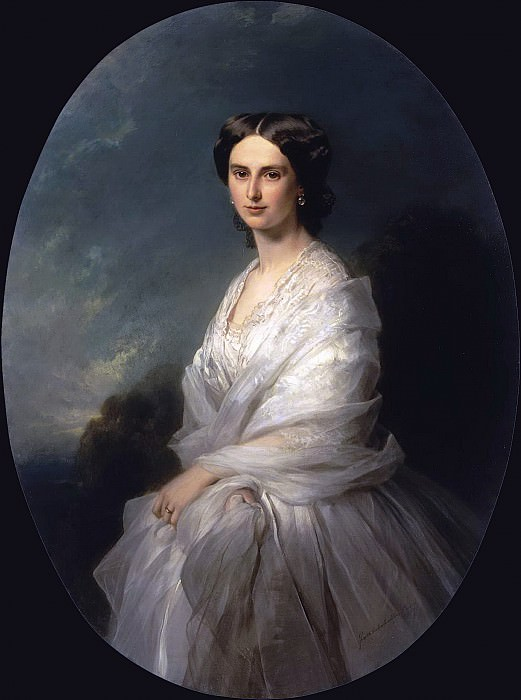Portrait of Countess Sophia Bobrinskaya. Franz Xavier Winterhalter