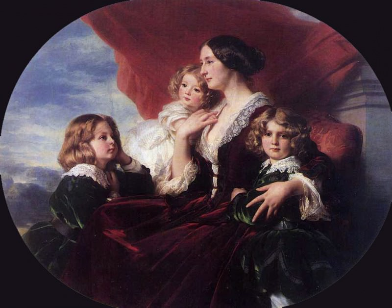 Elzbieta Branicka, Countess Krasinka and her Children. Franz Xavier Winterhalter