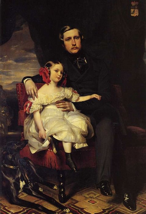 Napoleon-Alexandre-Louis-Joseph Berthier, Prince de Wagram and his Daughter. Franz Xavier Winterhalter