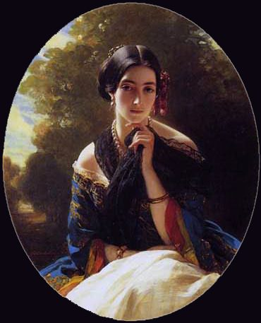 Леонилла, принцесса Сайн-Витгенштейн. Франц Ксавьер Винтерхальтер