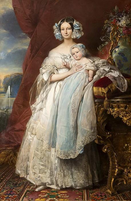 Helene-Louise de Mecklembourg- Schwerin, duchesse d. Franz Xavier Winterhalter