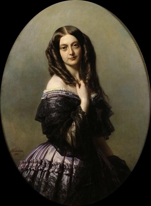 Claire-Emilie Mac Donell, vicomtesse Aguado. Franz Xavier Winterhalter