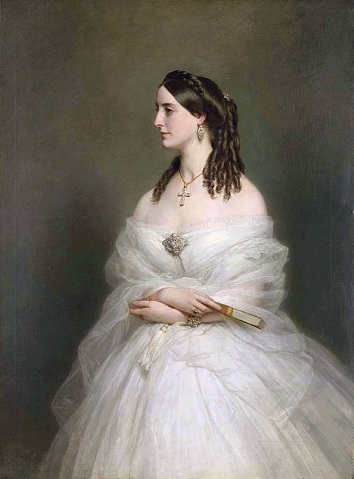 Portrait of Mrs Vanderbyl. Franz Xavier Winterhalter