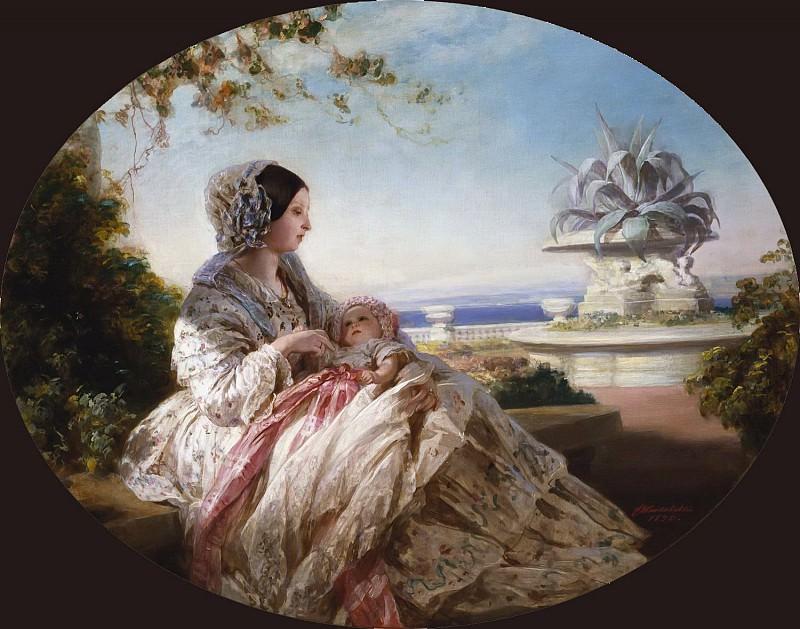 Queen Victoria with Prince Arthur. Franz Xavier Winterhalter