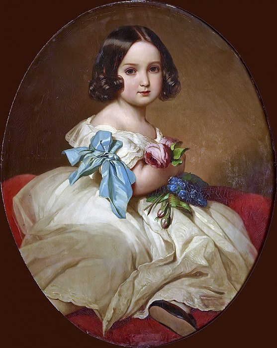 Princess Charlotte of Belgium, Empress of Mexico (1840-1927). Franz Xavier Winterhalter