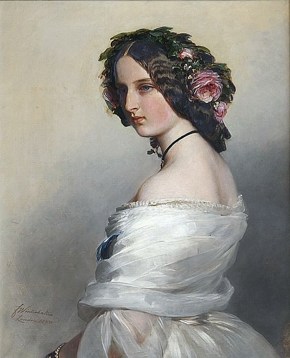 Lady Constance Leveson-Gower (1834-80), later Duchess of Westminster. Franz Xavier Winterhalter