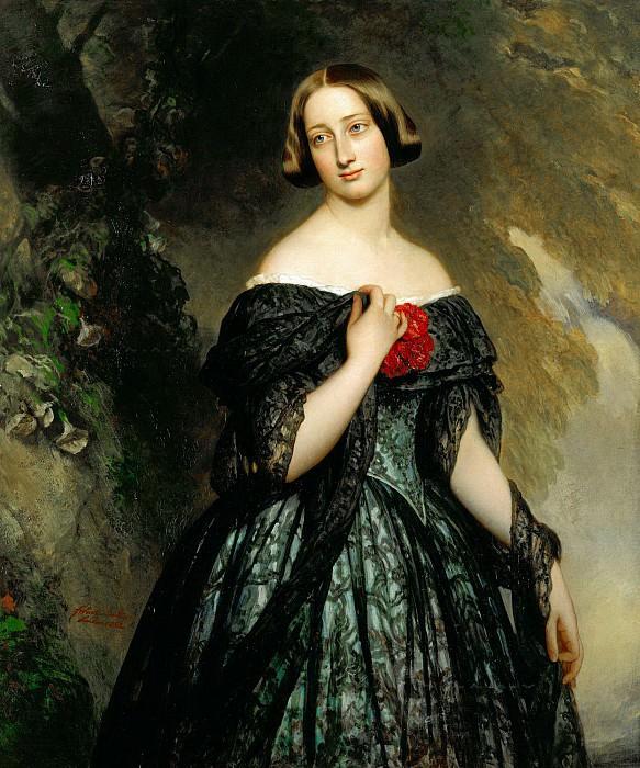 Alexandrine, Duchess of Saxe-Coburg-Gotha (1820-1904). Franz Xavier Winterhalter