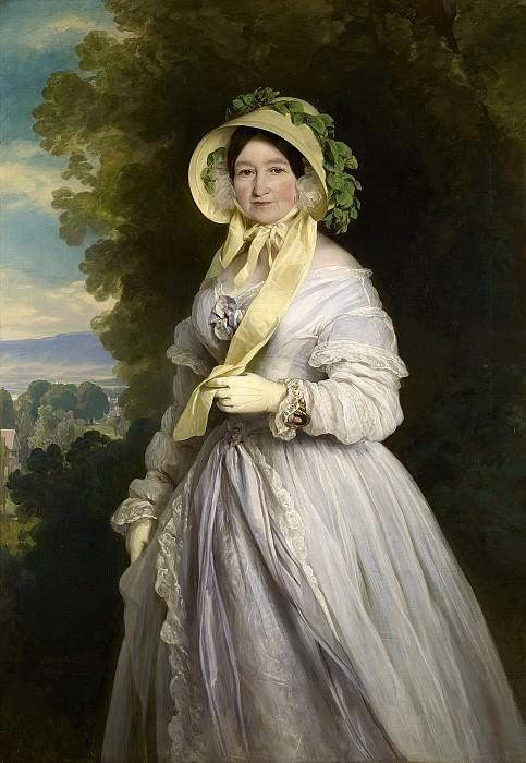 Juliane, Princess of Saxe-Coburg-Saalfield, Grand Duchess Anna Feodorovna of Russia. Franz Xavier Winterhalter