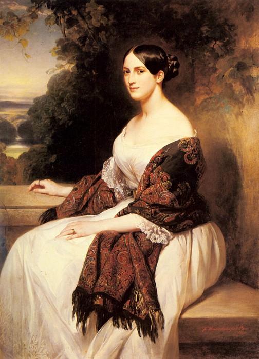 Portrait Of Madame Ackerman. Franz Xavier Winterhalter