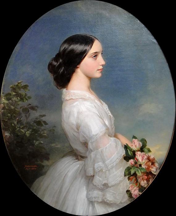 Кармен Агуадо, герцогиня де Монморанси. Франц Ксавьер Винтерхальтер