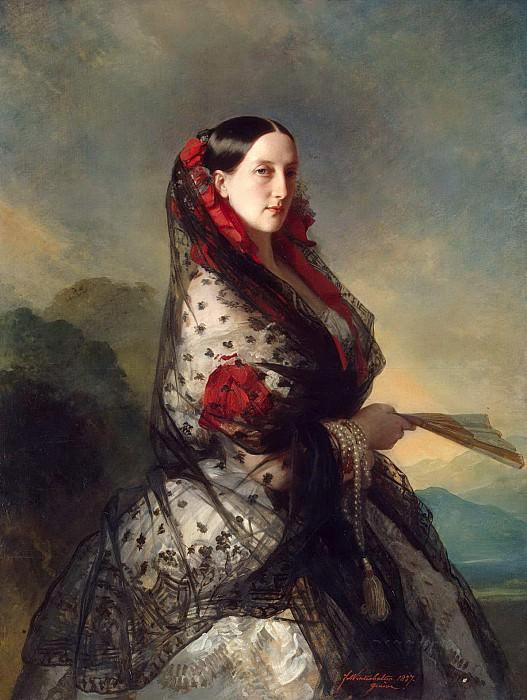Portrait of Grand Duchess Maria Nikolaevna. Franz Xavier Winterhalter