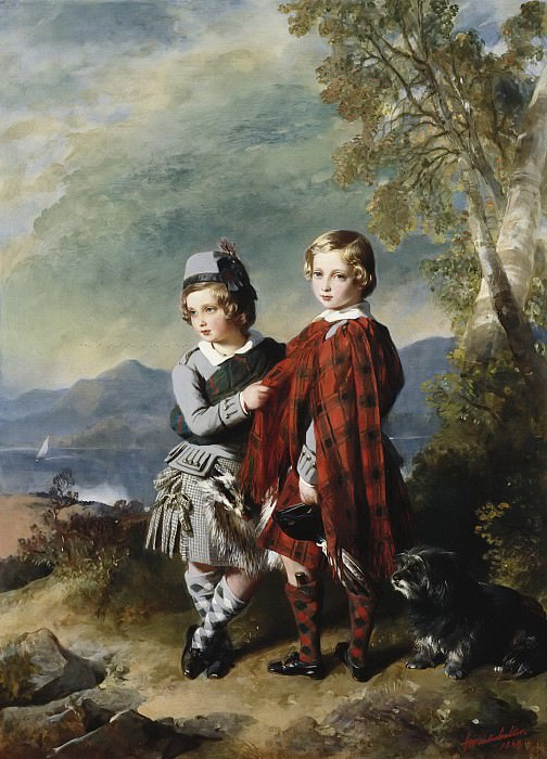 Albert Edward, Prince of Wales, with Prince Alfred. Franz Xavier Winterhalter
