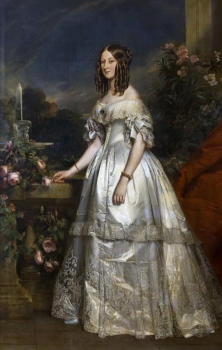 Victoire-Auguste-Antoinette de Saxe-Cobourg, duchesse de Nemours. Franz Xavier Winterhalter