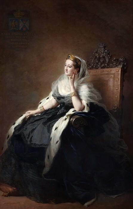 Portrait of Empress Eugenia. Franz Xavier Winterhalter