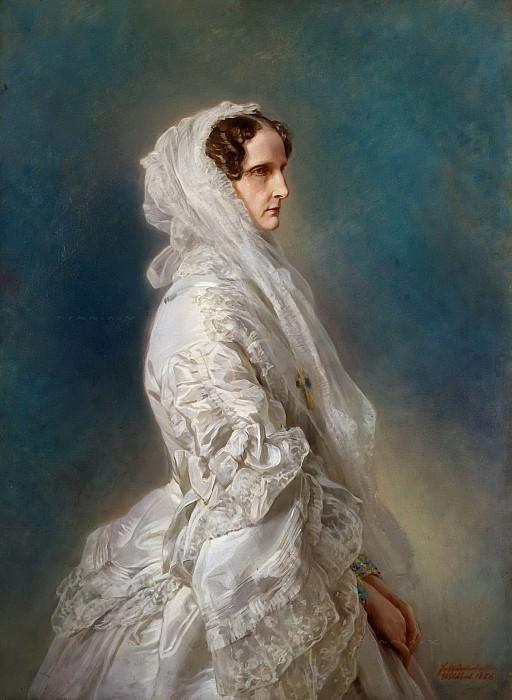 Portrait of Empress Alexandra Feodorovna. Franz Xavier Winterhalter