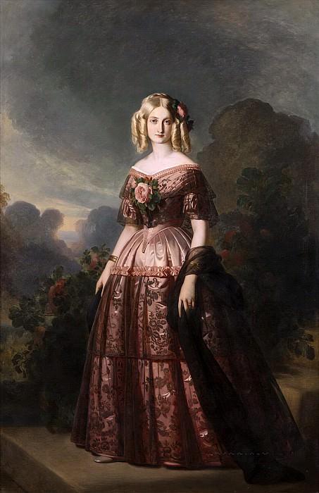 Marie-Caroline-Auguste de Bourbon-Salerne, duchesse d´Aumale. Franz Xavier Winterhalter
