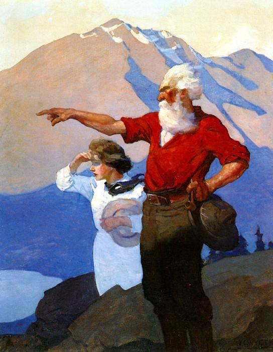 N.C.Wyeth Heidi, 1940 sqs. Newell Convers Wyeth