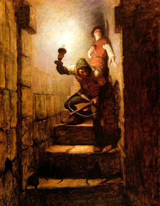 N.C.Wyeth We Must Be in The Dungeons, Dick Remarked, 1916 sqs. Newell Convers Wyeth