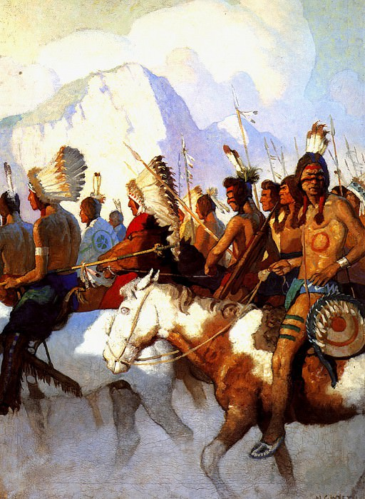 lrs-WyethNC-An Indian War Party. Newell Convers Wyeth
