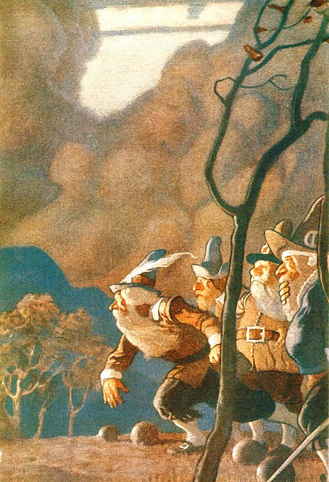 Rip Van Winkle 0009 The Wee Folk N.C.Wyeth sqs r. Newell Convers Wyeth