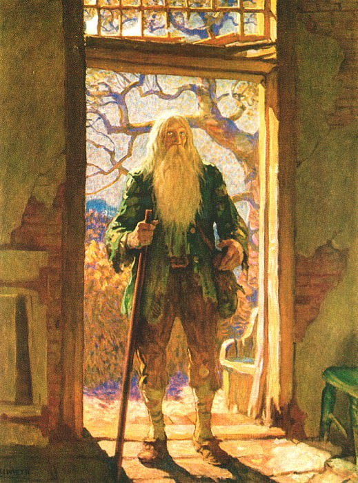 Rip Van Winkle 0007 Twenty Years Later N.C.Wyeth sqs. Ньюэлл Конверс Уайет
