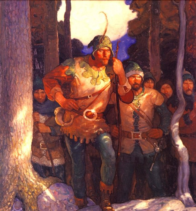 Robin Hood the Men of Greenwood. Newell Convers Wyeth