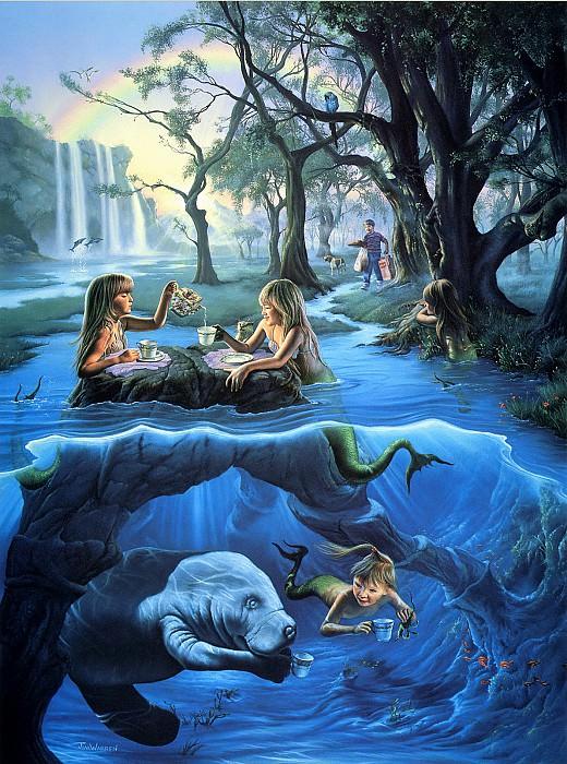 Mermaid Tea Party. Джим Уоррен