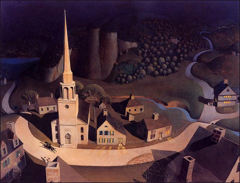 bs-ahp- Grant Wood- Midnight Ride Of Paul Revere. Grant Wood
