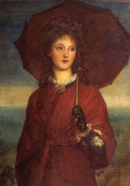 Eveleen Tennant later Mrs F.W.H. Myers exhibited 1880. George Frederick Watts