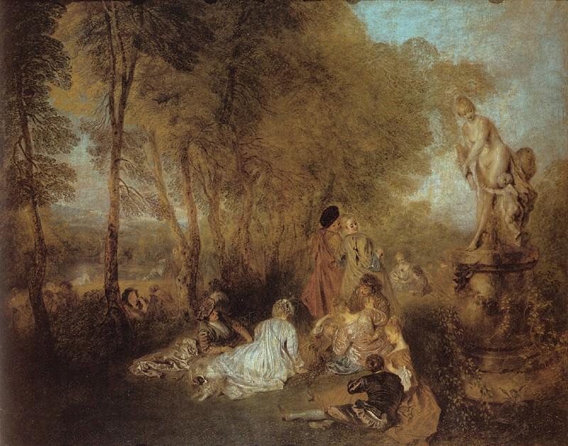 Watteau La Fete d-amour. Жан-Антуан Ватто