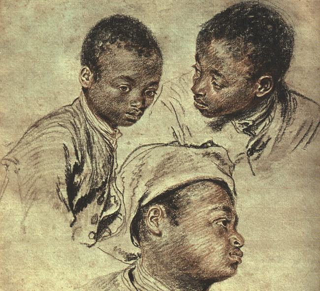 Three Studies of a Boy CGF. Jean-Antoine Watteau