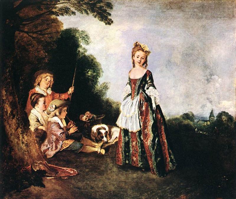 The Dance WGA. Jean-Antoine Watteau