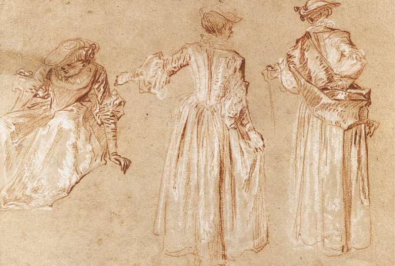 03studie. Jean-Antoine Watteau