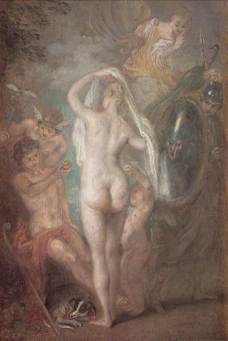 Watteau Le Jugement de Paris. Jean-Antoine Watteau