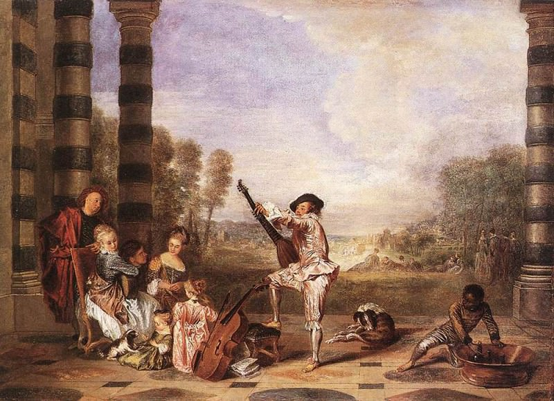 Les Charmes de la Vie The Music Party WGA. Jean-Antoine Watteau