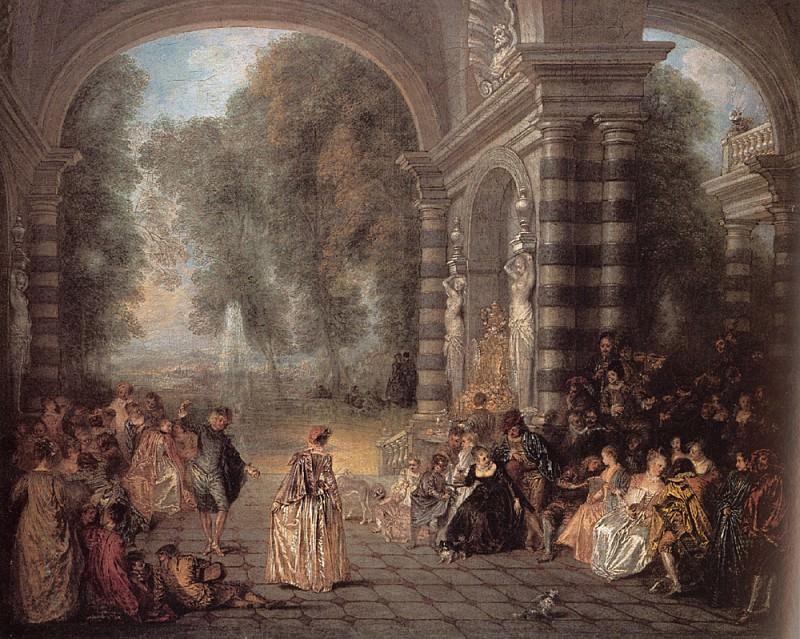 Watteau Les Plaisirs du bal. Jean-Antoine Watteau