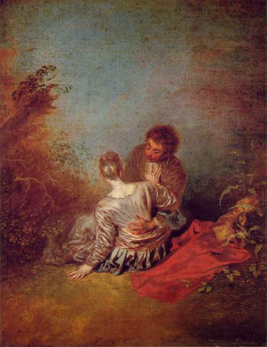 faux-pas. Jean-Antoine Watteau
