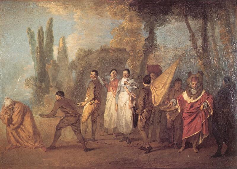 Watteau Qu-ay je fait assassins maudits. Жан-Антуан Ватто