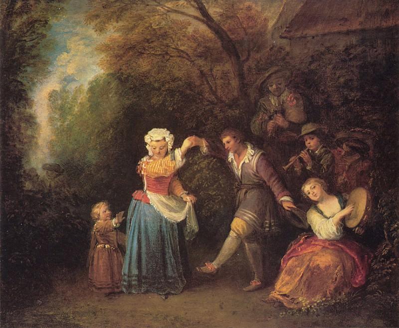 Watteau La Danse Champetre. Jean-Antoine Watteau