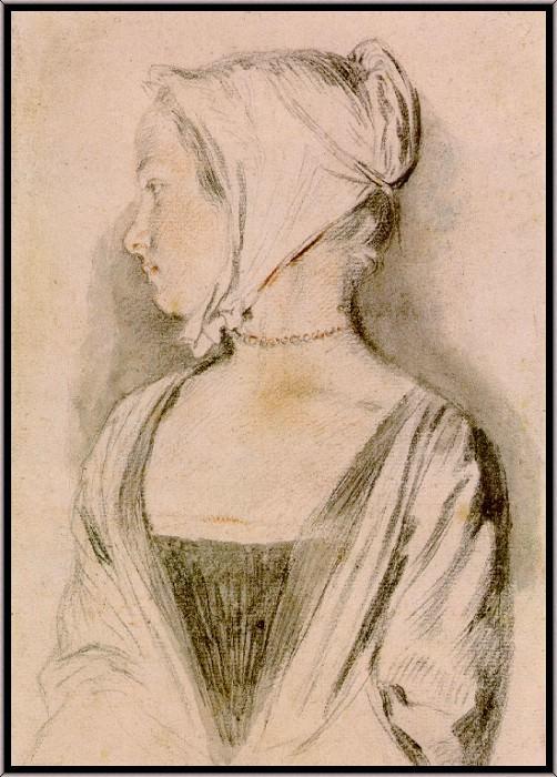 Portrait of a Girl. Jean-Antoine Watteau