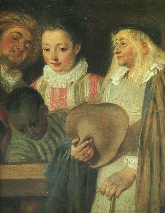 Actors from a French Theatre detail CGF. Jean-Antoine Watteau