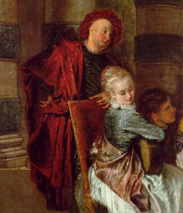 delights-detail. Jean-Antoine Watteau
