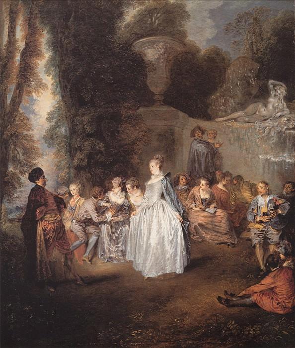 Watteau Les Fetes venitiennes. Jean-Antoine Watteau