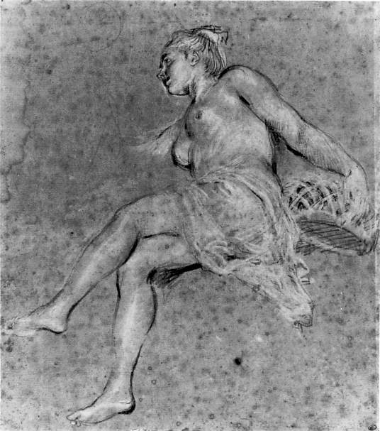 flora. Jean-Antoine Watteau