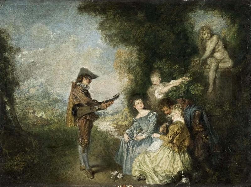 The Love Lesson. Jean-Antoine Watteau